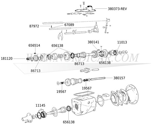 Naaldlager hoofdas: 13.3 x 4.75mm Volvo 544 210 Ama 1800S E ES 140 M40 41 181120