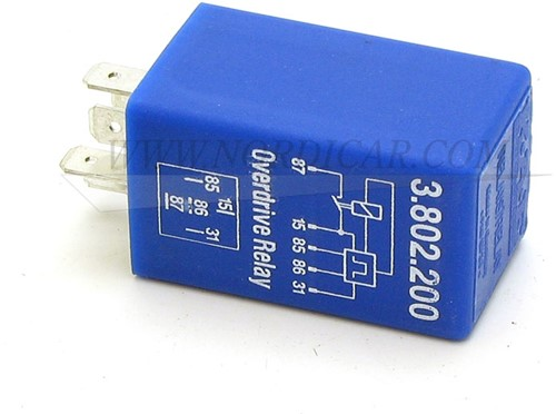 Overdrive relais blauw Volvo 240 260 740 760 M46 81-84 1259750