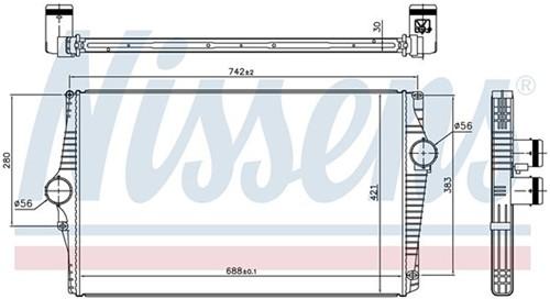 Intercooler: Nissens Volvo XC90 2003-2014 D5 D5244Tx 31274553