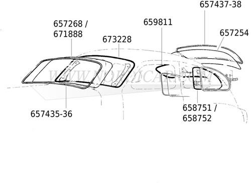 Lunette arrière chauffante Volvo 544 657254