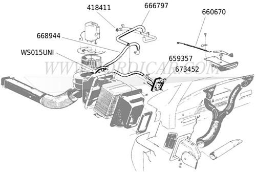 Koelwaterslang 15mm Volvo WS015UNI