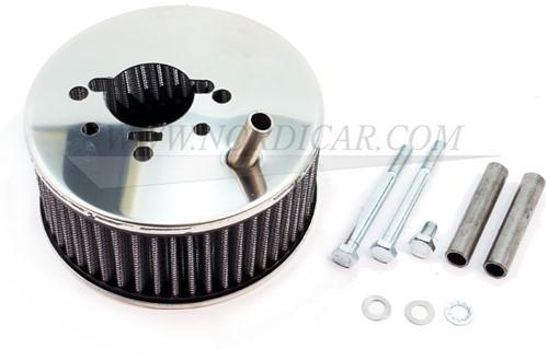 Filtre à air chrome Hi-Performance avec ventilation connexion