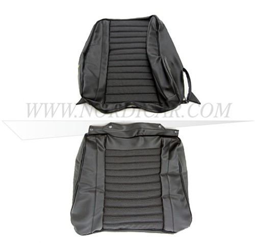 Seat cover set- black- seat and back