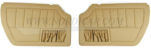 Door panel set gold brown- Left and Right Volvo 1800E 37550- 1800ES