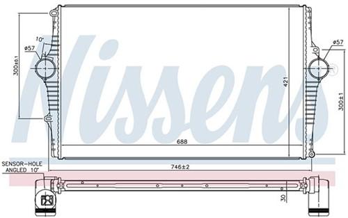 Intercooler: Nissens Volvo S60 S80 V70 XC70 03- benz 8671694