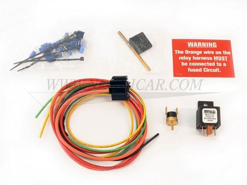 Koelvin electrisch thermostaat Derale Volvo voor electrische koelvin aan bij 82graden uit bij 74graden DR16738