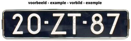 Porte plaque 44,5/10,5 cm Volvo 44 5/10 5 KPR001NOR