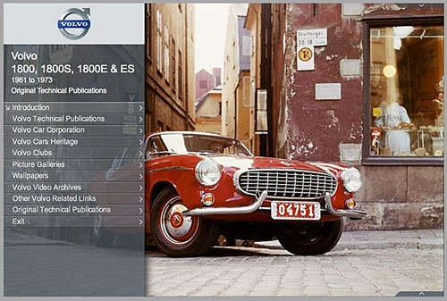e-Book Original Technical Publications, online Version Volvo P1800 P1800S P1800E 1800ES,  1961-1973 TP