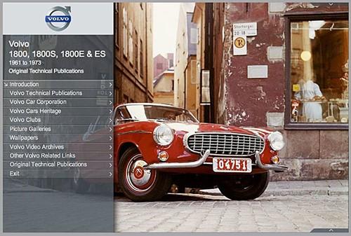 e-Book Original Technical Publications, version en ligne Volvo P1800 P1800S P1800E 1800ES,  1961-1973 TP