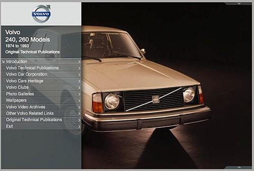 e-Book Original Technical Publications, online Version Volvo 240 260, 1974-1993 TP