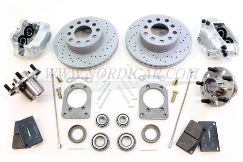 Conversion kit Brake disc Front axle ventilated